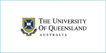 The University of Queensland's logo, a crest with the words 'The University of Queensland' to the left of it
